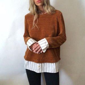 •Rafaella• sweater built in shirt